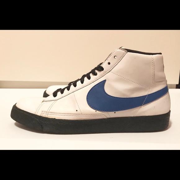 Nike Blazer High Mens Sz 9.5 White Royal Black. M 5b47cb42409c15f0dfe1cff2 12e75148f8c9